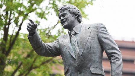 Statue dedicated to Sir Bobby Robson outside Portman Road. Picture: GREGG BROWN