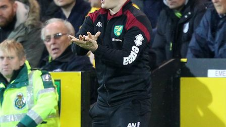 Norwich Manager Alex Neil during the Barclays Premier League match at Carrow Road, NorwichPicture by