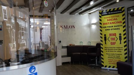 The salon is in the town's High Street, opposite Crew Clothing Company