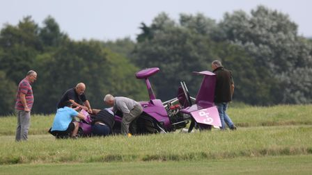 A gyrocopter crashed at Beccles Airfield on Tuesday (August 10).