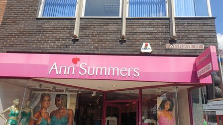 The Ann Summers building in Ipswich high-street is up for sale