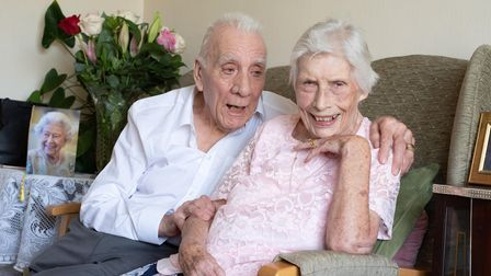 Olive and Rob Bilbrough are celebrating their 70th wedding anniversary. Picture: Sarah Lucy Brown