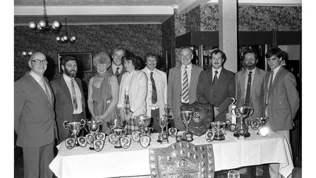 A Sea Anglers Society dinner in October 1984