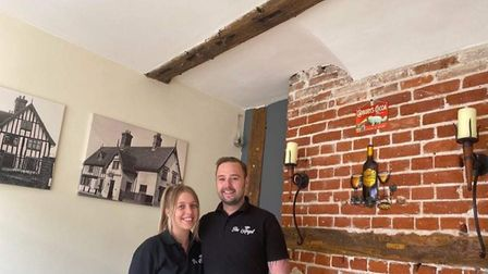 Marc Rogers and his partner Hannah at the Angel in Needham Market