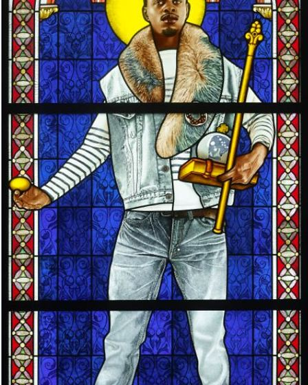 See this extraordinary stained glass art work by Kehinde Wiley at Ely Stained Glass Museum.