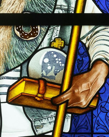 Kehinde Wiley at Ely Stained Glass Museum.