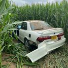 A stolen car from Mildenhall has been found in a corn field in Red Lodge