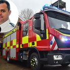 Jon Lacey (inset) has been appointed chief fire officer for Suffolk