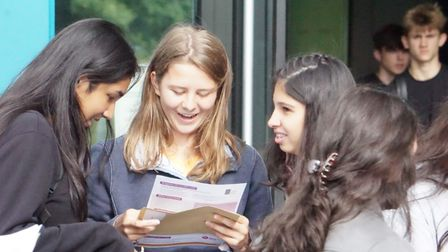 Stowmarket High School pupils check out their results
