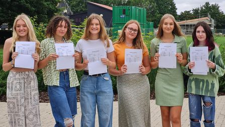 Students at Stowupland High School picked up their GCSE results this morning