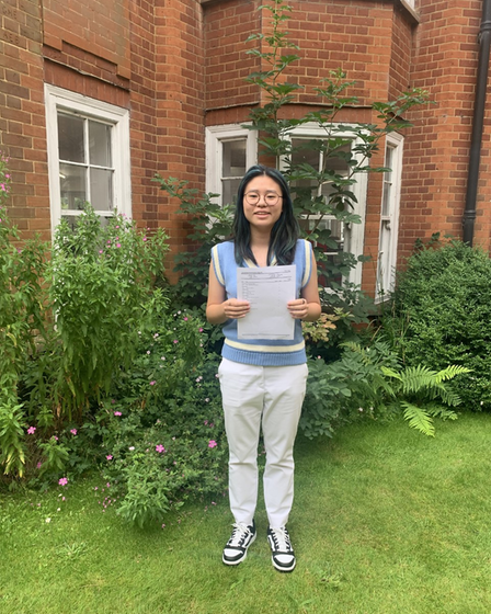 Polly Chan from St Felix School had impressive GCSE results