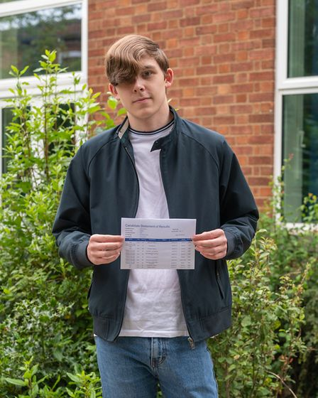 Jamie Hutton is aiming for a pro-golfing career after a great result in GCSE PE at SET Beccles