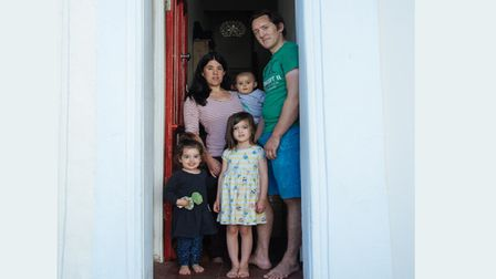 Family of five in Bow... front door was limit of their world