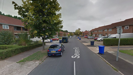 A caravan has been setalight in a suspected arson attack in Bury St Edmunds