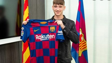 Louie Barry joined Barcelona in 2019 after drawing interest from the likes of PSG and Juventus.