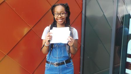 Elutec pupil Tania Pataca Gomes with her GCSE results