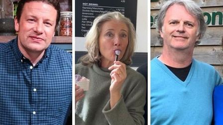 Jamie Oliver, Emma Thompson and Paul Merton have been spotted in Norfolk.