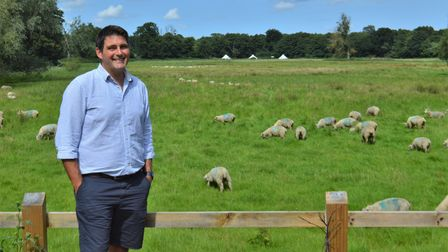 Norfolk farmer Luke Paterson hopes to restore Dilham Lake, which was drained to create this grazing land in the late 1970s