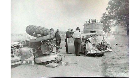 Tractor smash - August 8th 1965