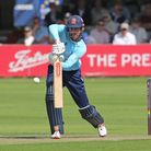 Sir Alastair Cook in batting action for Essex Eagles in the Royal LondonCup
