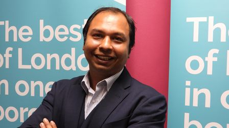 Jubilant... Kabir Ahmed is Tower Hamlets Council's newest member for Weavers ward