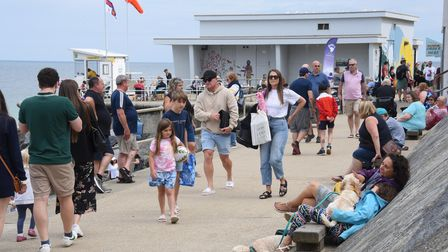 Busy Sheringham promenade, popular with visitors and locals alike. Picture: DENISE BRADLEY