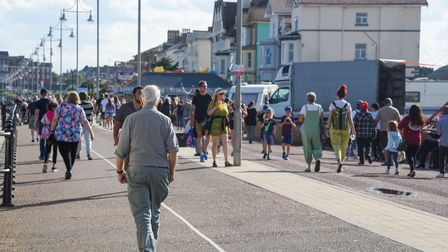 Lots of people enjoying Lowestoft seafront in the sunshine. Picture: Danielle Booden