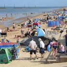 The busy beach at Sea Palling. Picture: DENISE BRADLEY