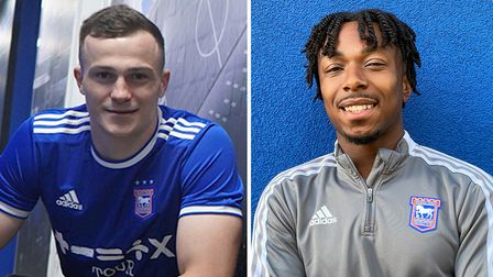 New Ipswich Town signings George Edmundson and Kyle Edwards