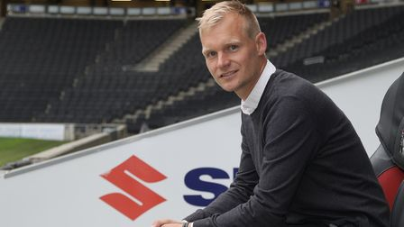 Liam Manning is the new head coach of MK Dons