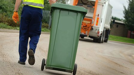 Generic - Binmen picture. Council recycling feature at West Norfolk council depot, new 240 litres '