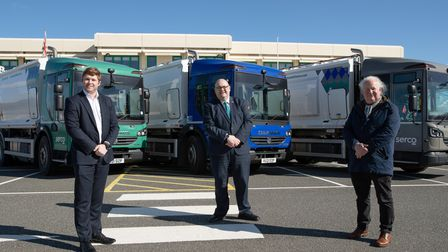From left, Breckland Council leader Sam Chapman-Allen, King's Lynn and West Norfolk Borough Council