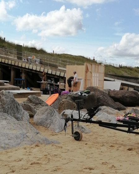 The film crew were on the beach at Cart Gap.
