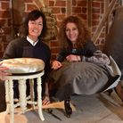 Rachel Roullier and Mary Gibson (right), inside the new premises of Diss Coverings where they will b