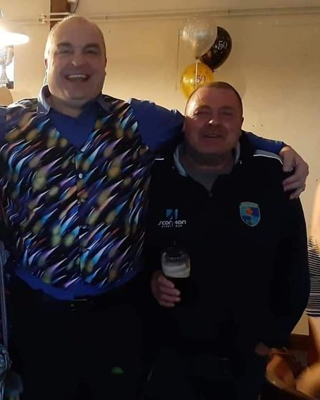 Mike Curry andKevin Singleton havehelped to set up the memorial rugby game in honour of Lee Muston.