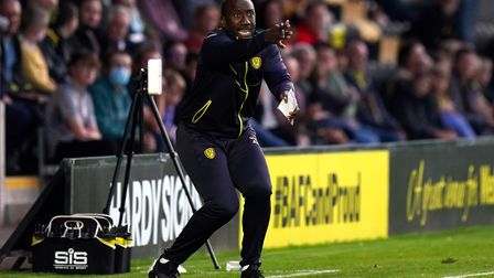 Burton Albion manager Jimmy Floyd Hasselbaink on the touchline during the Carabao Cup first round ma