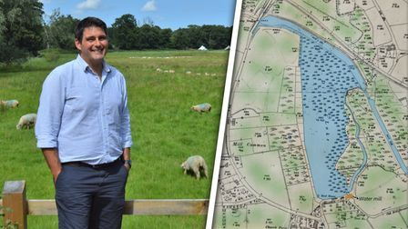 Norfolk farmer Luke Paterson hopes to restore Dilham Lakewhich was drained to creategrazing land in the late 1970s