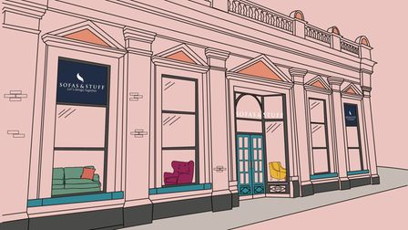 An illustration of the new showroom.