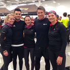 Laura Bonner, Tom Bonner , Emily Sayles, Ian Smith and Gemma Smith before completing the Survial of