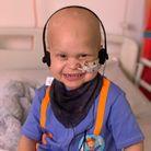 Harry Crick, two, was diagnosed with a rare brain tumour in December last year
