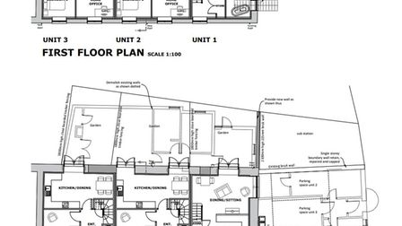 Plans for the three homes have been approved on Oak Street in Fakenham.