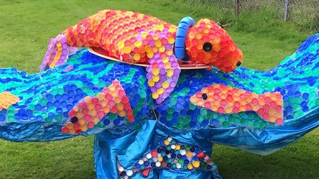 Sidestrand Hall school Riding the Wave of Hope sculpture