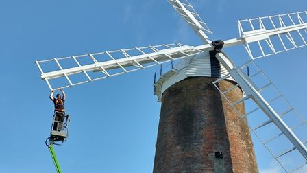 The sails were turned at Dereham Windmill on Thursday August 12