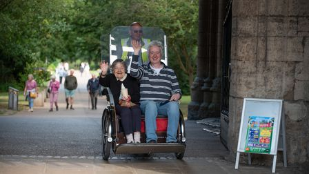 Bury Rickshaw are offering 'joy rides' again following their efforts during the pandemic.The charity