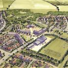 An artist's impression of the future development at Chilton Woods near Sudbury that will see more th