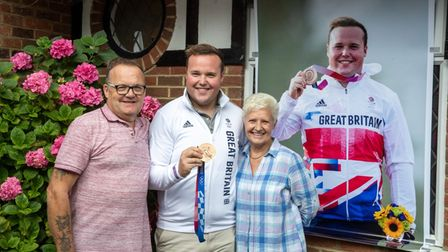 Delight as Olympic medallist Matthew Coward-Holley is home from Tokyo 2020