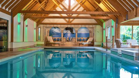 The house comes with an amazing indoor swimming complex
