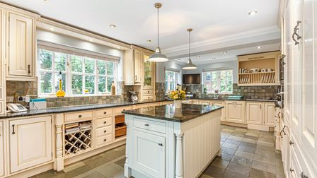 The open plan kitchen has been finished to a very high standard