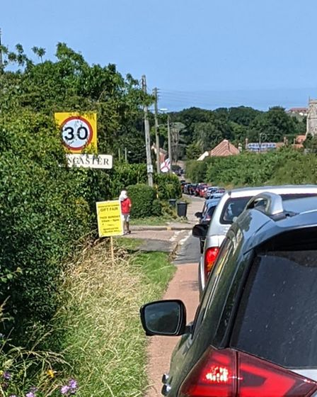A traffic queue inBrancaster Parking and Safety Team has
