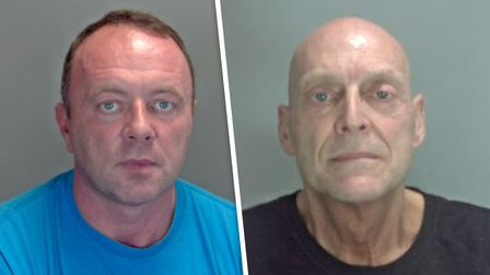 Bruce Knowles (left) and Adrian Lake (right) were two of the people jailed in Norfolk courts this week.